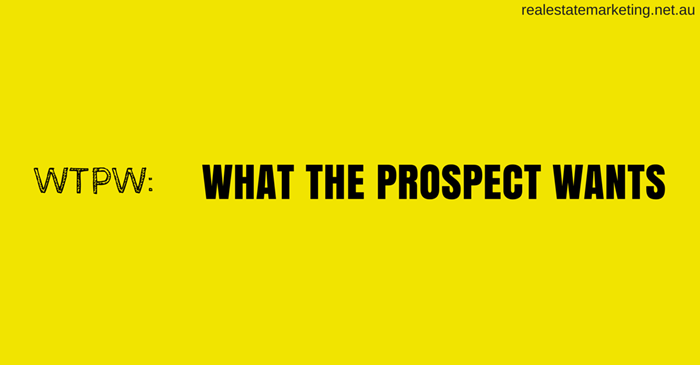 What The Prospect Wants